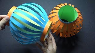 How to Make Fancy Paper Lantern Ball - A Colorful Diwali Lantern - Origami Tutorial