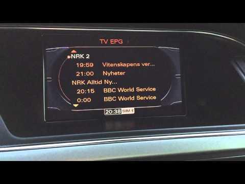 Audi A5 2009 Tuner TV DVB-T