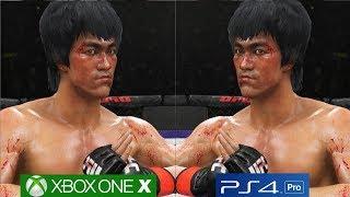 EA Sports UFC 3 - XBOX ONE X vs PS4 PRO Graphics Comparison [4K/60FPS]