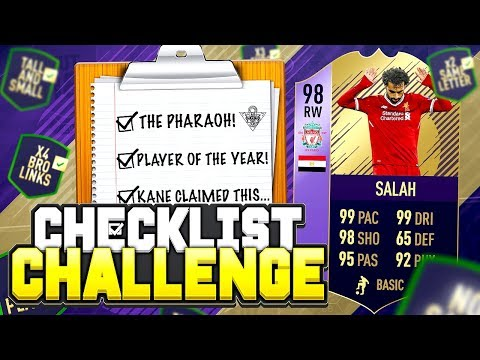 98 POTY SALAH! - FIFA 18 Checklist Challenge! 📋