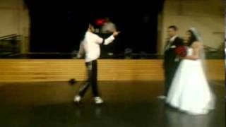 Michael Jackson aka Cameron Knight - Big Wedding Surprise Instend Of 1st Dance 10-22-11