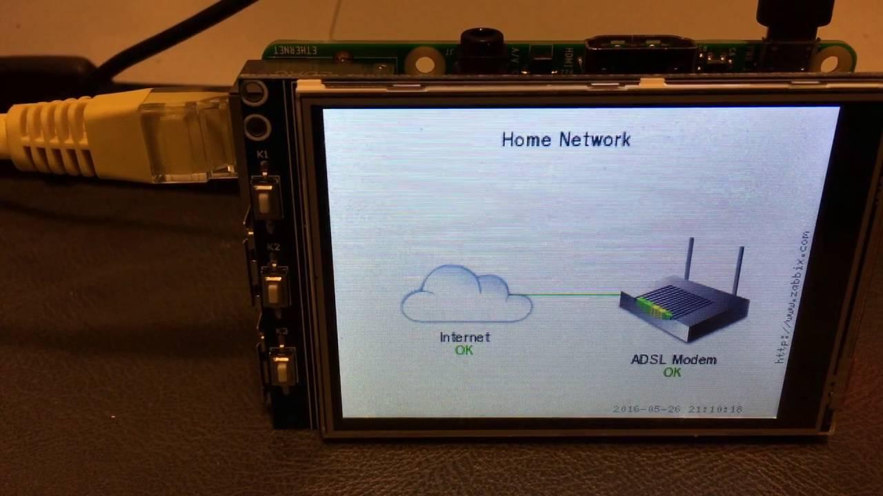 DevOps-ish: Raspberry Pi network monitor with LCD graphs using Zabbix