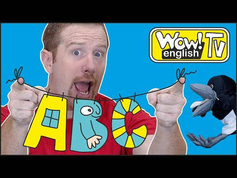 ABC Story And Alphabet Song From Steve And Maggie | Learn Free Speaking Wow English TV