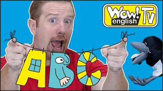 ABC Story and Alphabet Song from Steve and Maggie | Wow English TV