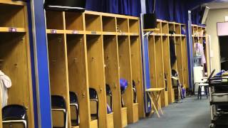 Walking into The Chicago Cubs Clubhouse in Wrigley Field
