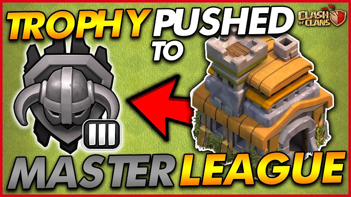 getting to master league as a th7  trophy push  town hall 7