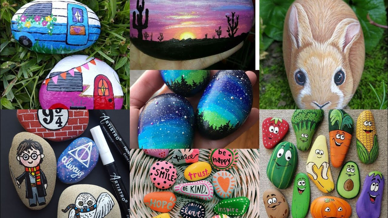 Marvellous Easy Stones Painting Ideas Ll Cool Stones Painting Shortvideos Ideas Youtube