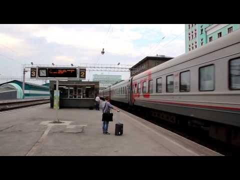 Train 5 (Ulaanbaatar - Moskva) arriving at Novosibirsk