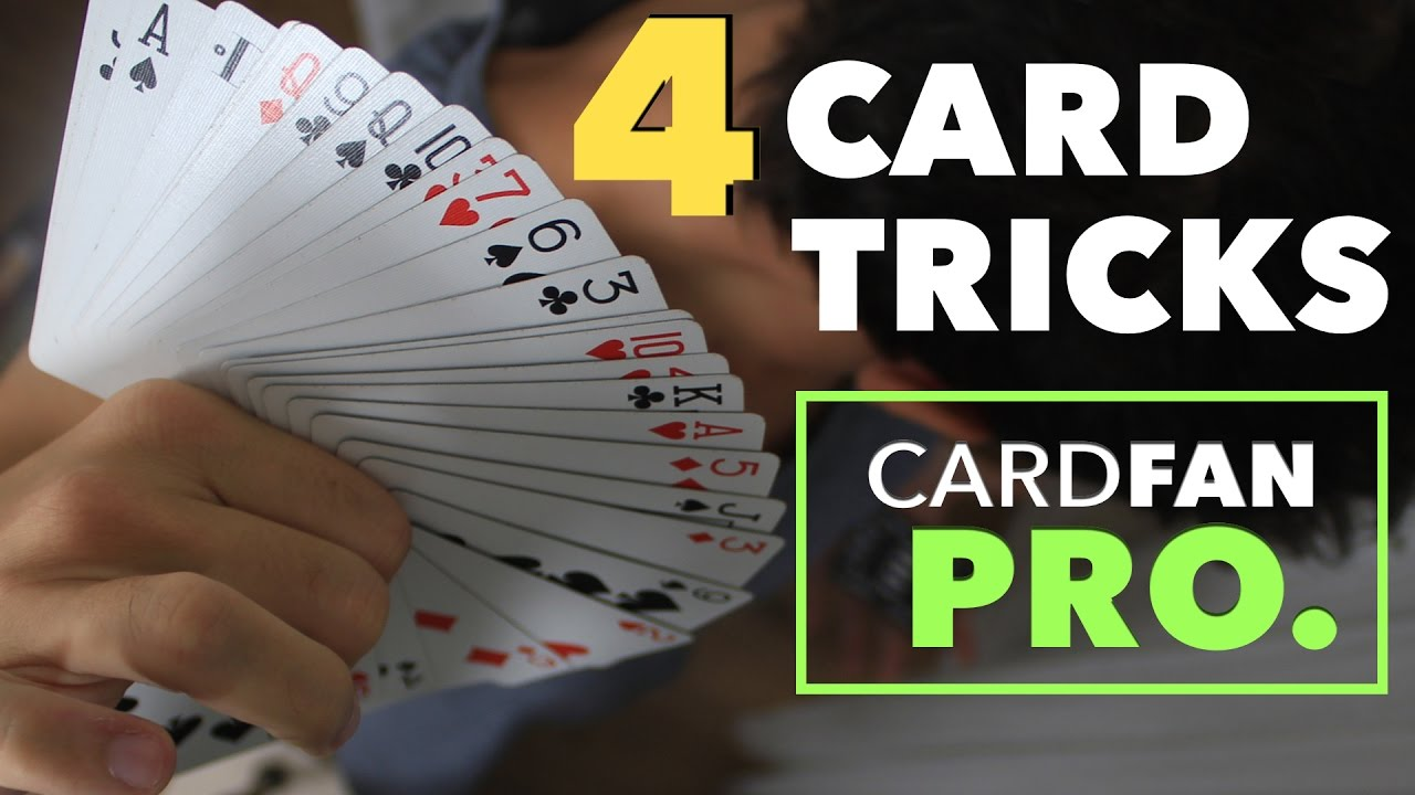 4 easy card tricks to fan the cards like a pro  youtube