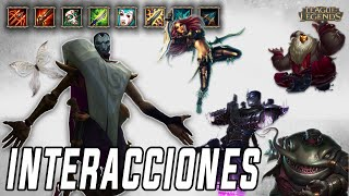 Jhin | Interacciones a campeones y objetos [League of Legends]