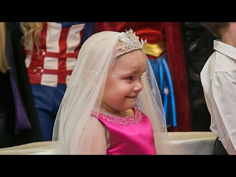"Terminally ill 5-year-old girl gets dream ""wedding"" with best friend"