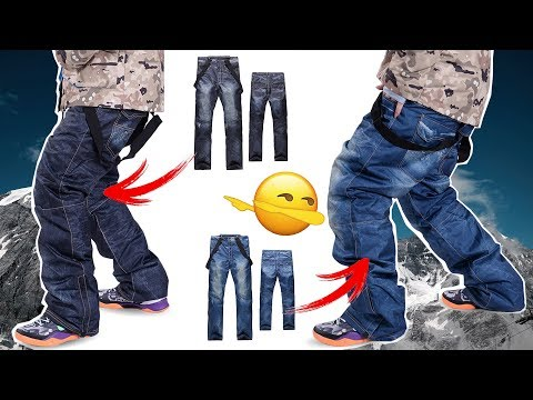 WOW 😱 SNOWBOARD PANTS IN JEANSLOOK 🔰 MUST HAVE