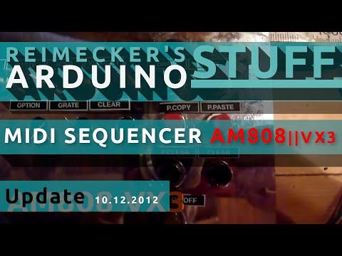 Arduino Midi Sequencer AM808 VX3 - Button Pad  (12.2012)