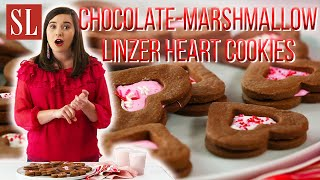 Chocolate-Marshmallow Linzer Heart Cookies | Valentine Delights | South's Best Recipes