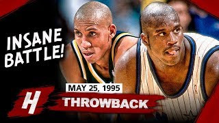 Young Shaquille O\'Neal vs Reggie Miller INSANE Game 2 Duel Highlights (1995 ECF) - EPIC BATTLE!