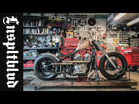 Honda Shadow Bobber Build Ribbed Fender and Midpegs | Lnspltblvd