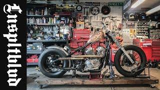 Honda Shadow Bobber Build Ribbed Fender and Midpegs   Lnspltblvd
