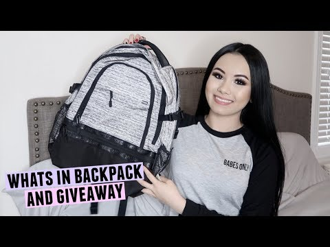 WHATS IN MY BACKPACK 2018 + HUGE GIVEAWAY!! | Megan Mauk