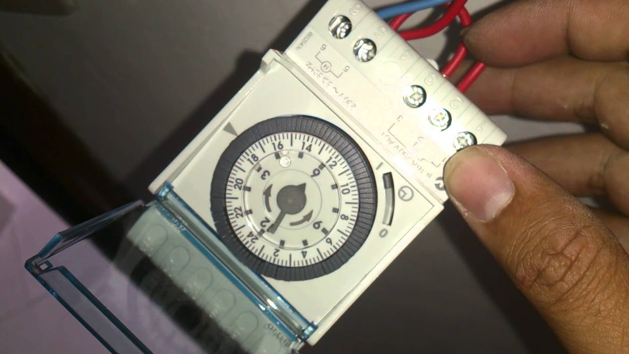 Basic Installation of Hager EH110 Timeswitch  YouTube