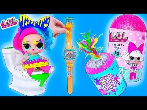 Новые Волшебные Часы Куклы ЛОЛ Сюрприз и Питомцы Littlest Pet Shop 2 Серия! Мультик LOL Surprise