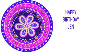 Jen   Indian Designs - Happy Birthday
