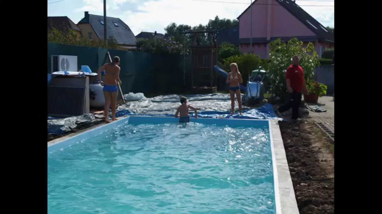 Construire une piscine soi meme pool selber bauen how for Abri piscine hors sol