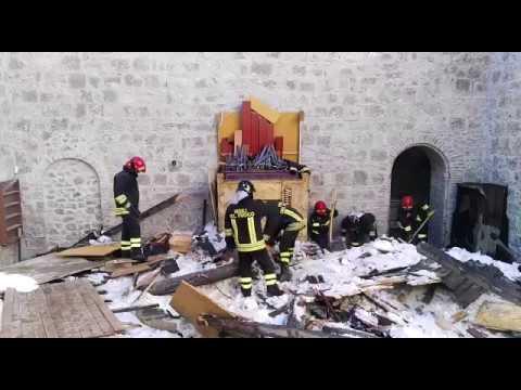 Civitella, recupero oggetti sacri nell'Abbazia di Montesanto