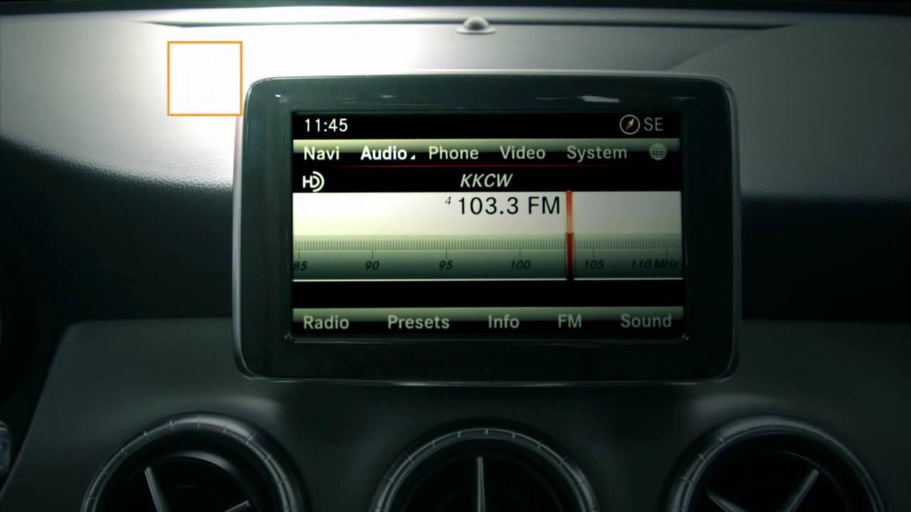 2014 2015 mercedes cla w hd radio technology youtube rh youtube com mercedes stereo manual mercedes c250 radio manual