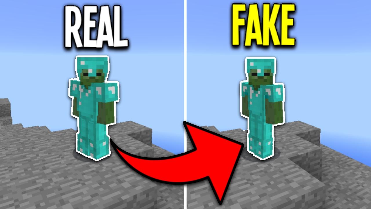 FAKE Diamond Armor Challenge In Minecraft Pocket Edition Mineplex - Skins para minecraft pe de troll