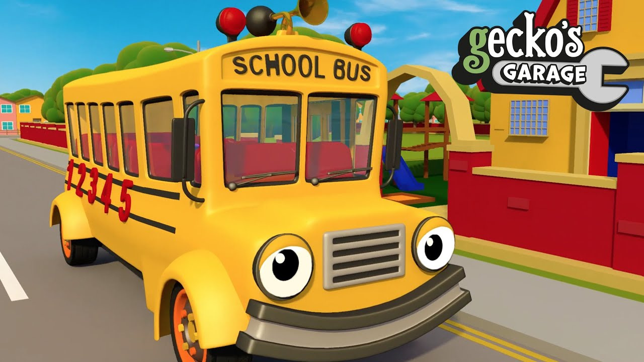 Back To School With Sammy The School Bus | Gecko's Garage | Bus Videos For Kids | Educational Videos