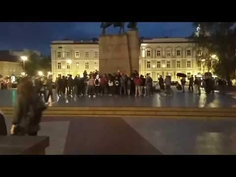 Scream like Goku event in Lithuania Vilnius