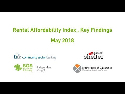 Rental Affordability Index May 2018 Key Findings