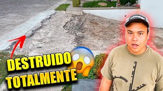 DESTRUIMOS EL GARAGE DE MI CASA POR COMPLETO *nuevos albañiles*    ALFREDO VALENZUELA