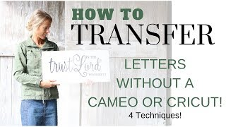 How to Transfer Letters onto Wood ~ DIY Letter Transfer ~ Sign Tutorial
