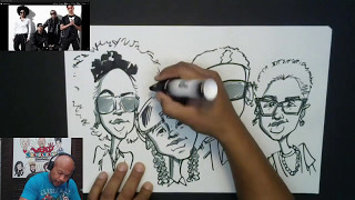 How to Draw Mindless Behavior Group Caricature Twitch Recap