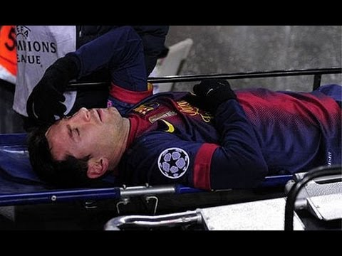 Lionel Messi Injury vs Benfica