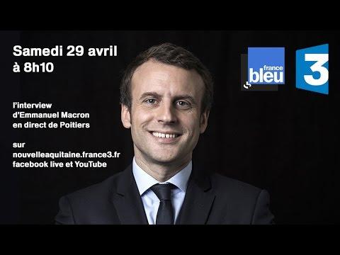 Emmanuel Macron invité de France 3 et de France Bleu depuis Poitiers (28 avril 2017)