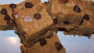 Peanut Butter Chocolate Chip Brownies Or Blondies - Gluten Free Recipe