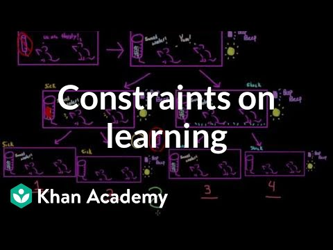Biological constraints on learning | Behavior | MCAT | Khan
