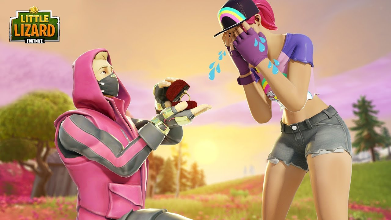 DRIFT PROPOSES TO BEACH BOMBER!!! - Fortnite Short Film ...