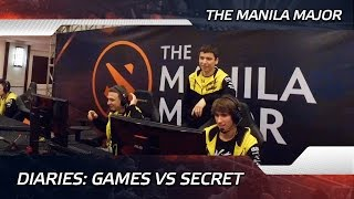 diaries games vs team secret the manila major eng subs