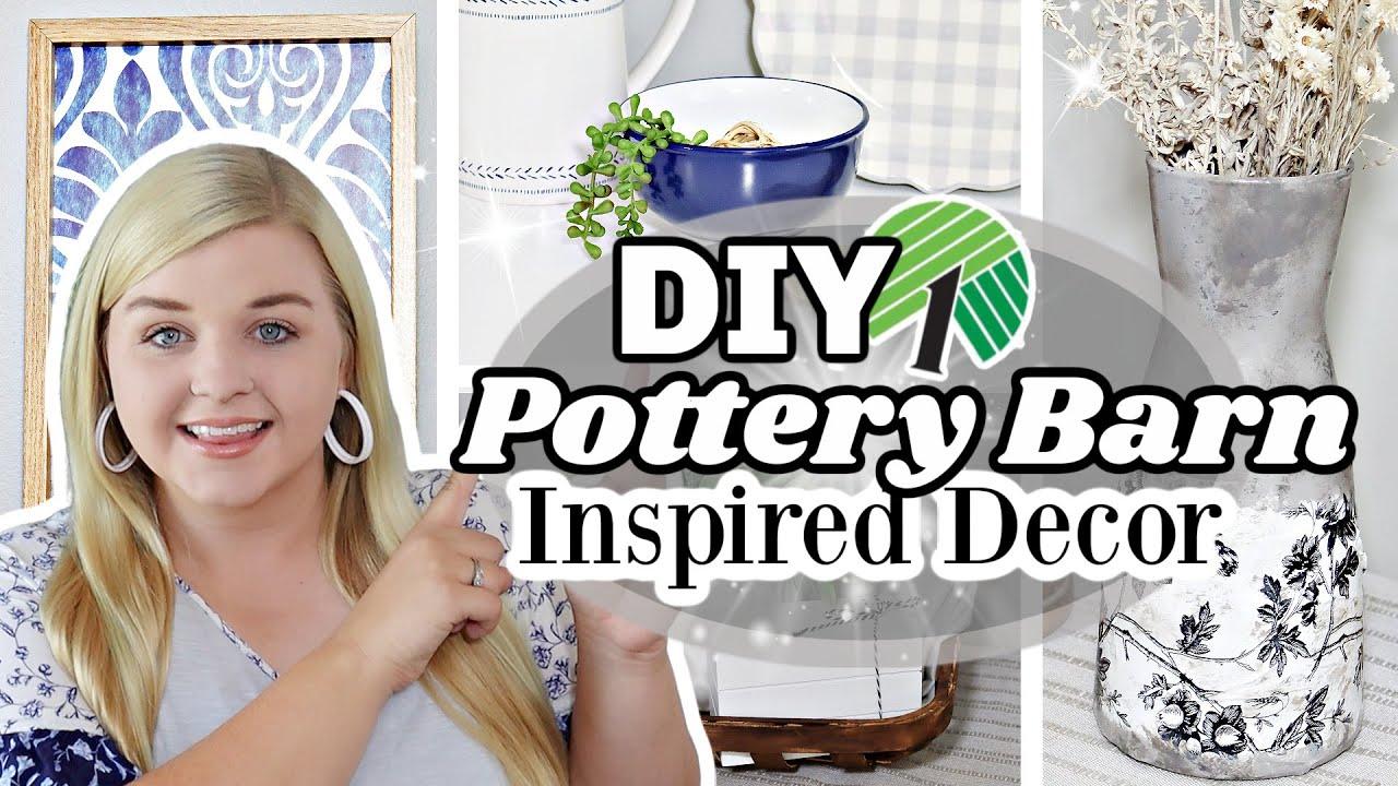 NEW HIGH-END Pottery Barn inspired Dollar Tree DIYS 2021 (Easy but Impressive!)   Krafts by Katelyn