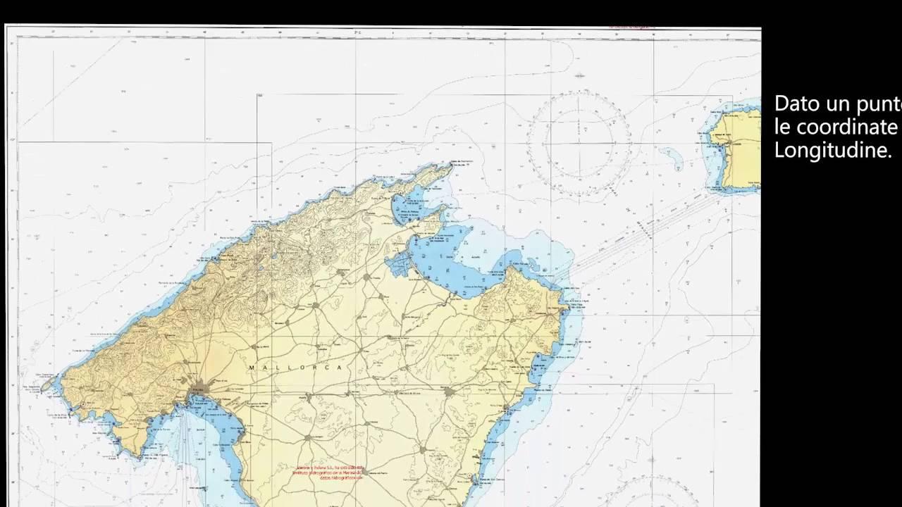 Cartina 5d.02 Individuazione Di Un Punto Sulla Carta Nautica Youtube