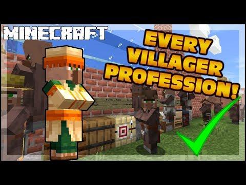 MINECRAFT | Every Villager Job Profession! 1.15.2