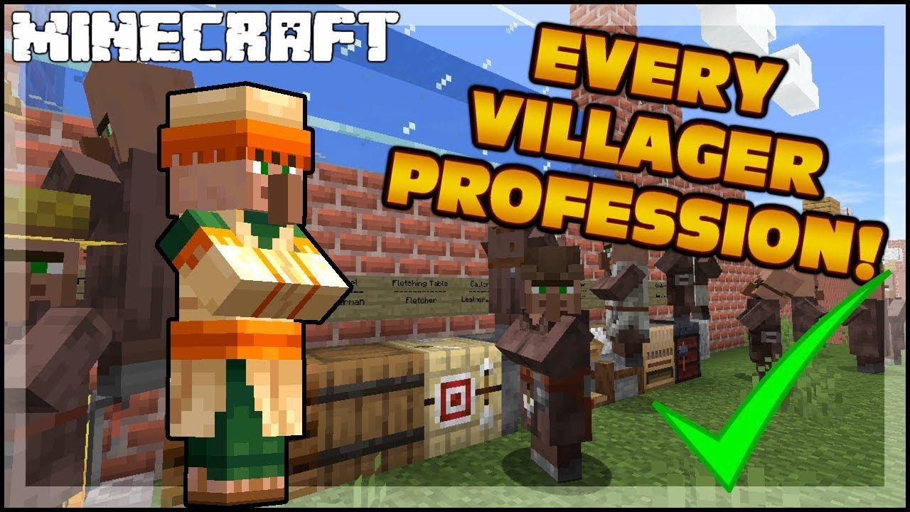 MINECRAFT  Every Villager Job Profession! 9.95.9