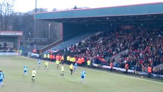 Sheffield United Fans Fight vs Rochdale