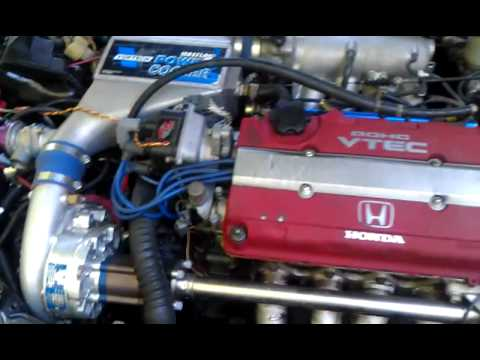 Honda crx B18c Type R 7.8 psi