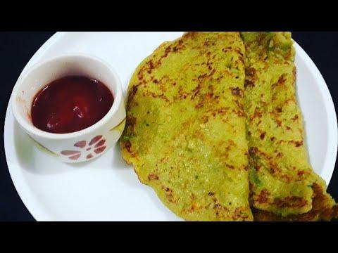 हरी मटर का चीला रेसिपी - Matar Cheela Berakfast Recipe