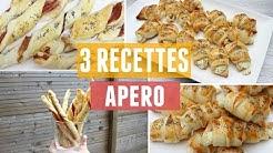 3 RECETTES APERO avec de la pâte feuilletée