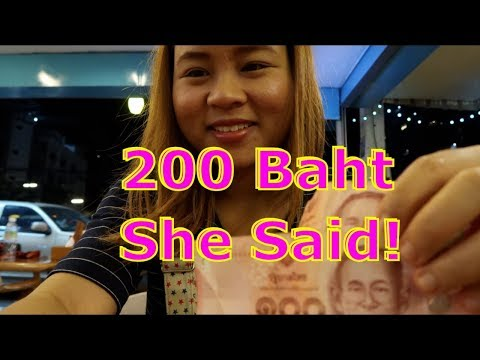 In Pattaya.  She only charged me 200 Baht!!